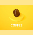 coffee isometric icon isolated on color vector image
