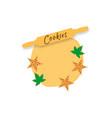 cookie biscuit logo vector image vector image