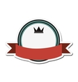 crown masculine emblem icon vector image vector image