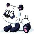 cute Chinese panda bear isolated on white vector image vector image