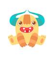 cute funny monster friendly alien cartoon vector image