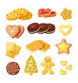 delicious biscuits bakery products flat vector image vector image