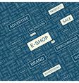 E-SHOP vector image vector image