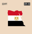 egypt map border with flag eps10 vector image
