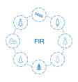 fir icons vector image vector image