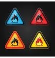flammable warning sign vector image vector image