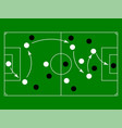 flat green field with soccer game strategy vector image vector image