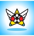 Flying soccer player vector image vector image