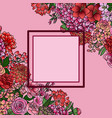 garden flowers mock up frame vector image vector image