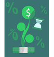 Growing money over time concept vector image vector image