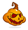 halloween pumpkin head isolated on white vector image vector image