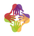 hand human silhouette colors community icon vector image vector image