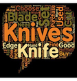 How To Choose The Best Knife Set text background vector image vector image