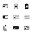 id card icon set vector image