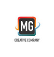initial letter mg swoosh creative design logo vector image vector image