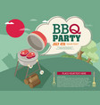 invitation card on the barbecue vector image vector image