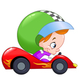 kid race car driver vector image