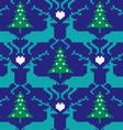 knit nordic reindeer vector image