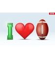 Love football inscription vector image vector image