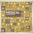 medical help design background vector image vector image