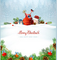 merry christmas red calligraphy inscription vector image vector image