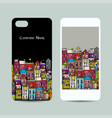 mobile phone cover design european city street vector image vector image