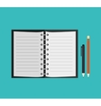 notebook paper office icon vector image vector image