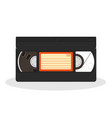 old video cassette isolated on a white background vector image vector image