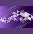 purple color geometric abstract background vector image