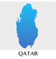 qatar map in asia continent design vector image