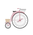 Retro bicycle in flat style