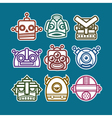 Robot Monster Icons vector image