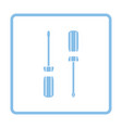 screwdriver icon vector image vector image
