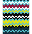 seamless zigzag lines colored vector image