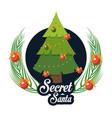 secret santa cartoon vector image