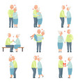 senior man and woman having a good time together vector image