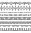 set of borders vector image vector image