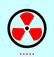 sign radioactive it is icon vector image