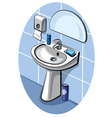 sink and faucet in bathroom vector image vector image