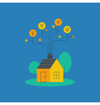 Smart home systems housekeeping concept household vector image