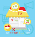 store discount concept vector image vector image