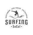 surfing logotype vector image vector image