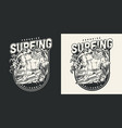 surfing vintage monochrome design vector image
