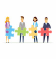 teamwork in a company - modern cartoon people vector image vector image