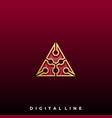 triangle design template vector image vector image
