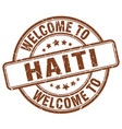welcome to haiti vector image vector image