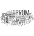 why plan an after prom party text word cloud vector image vector image