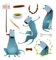 Feeding Happy Hungry Dogs Healthy Diet Clip Art vector image