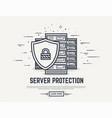server security line vector image