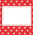 Scrap card with polka dot and frame vector image